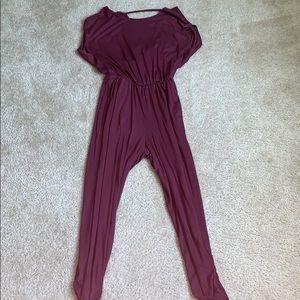 Deep purple jumpsuit!